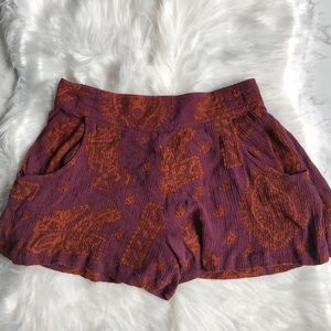 Free People Printed Woven Shorts